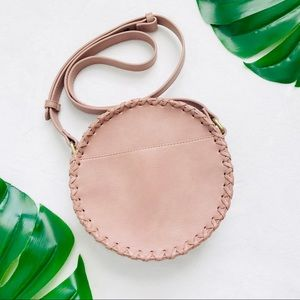 American Eagle blush pink round crossbody bag